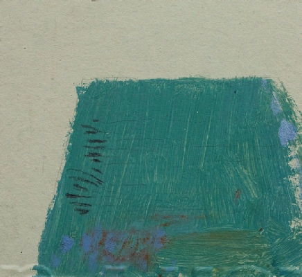 <em>Steep Slope 2009, sketch acrylic on card, 9 x 9cm</em>